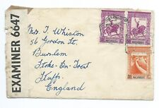 MOZAMBIQUE: Censored airmail cover to England 1942.