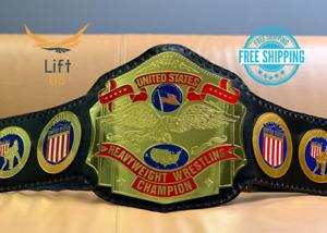 NWA United States Heavyweight Wrestling Championship Replica Title Belt Black