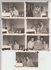 (F19333) 7x Orig. Foto Personen in einer Hamburger Wohnung 1957