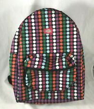 Dickies Multicolored Polka Dot Print Backpack Dual Zip Front Pocket