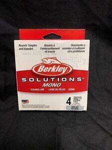 NEW! Berkley BSSFS4-GRM Solutions Spinning Mono Filler Spool 4lb Fishing Line Y1