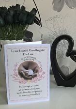 Baptism Christening Naming Day A5 Card Personalised Granddaughter Goddaughter