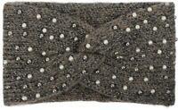 Bandeau en maille pour femme avec des perles, du fil métallique et un nœud