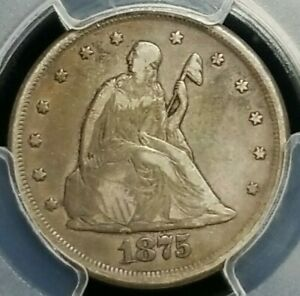 1875-CC 20 Cents PCGS VF-25