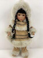 Seymour Mann Porcelain Native American Girl Doll 18