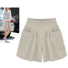 L-4XL Women Plus Size Loose Hot Pants Summer Casual Shorts Sport Beach Girl Pant