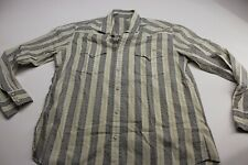 Lucky Brand Aztec Western Pearl Snap Shirt Large L 16.5 x 35/36 Trim