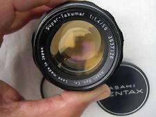 Pentax Super Takumar 50mm F1.4 Prime Lens.  M42 Screw Mount Nice! - SLR / DSLR