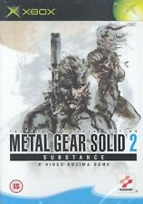 Metal Gear Solid 2 Substance XBOX Retro Video Game Original UK Release Mint Cond