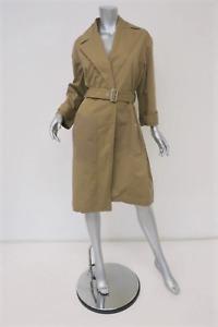 Vanessa Bruno Trench Coat Gatsby Khaki Cotton Gabardine Size 38 Belted Jacket