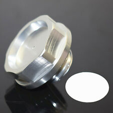 CNC Aluminum Power Engine Oil Filler Fuel Cap Cover Silver For HONDA ACURA