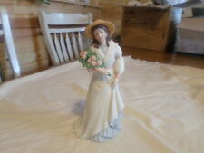 Home Interior Porcelain Figure Woman With Bouquet #1468