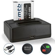 Dual Ladegerät (USB) + Akku NP-BG1/NP-FG1 für Sony Cyber-shot DSC-W130, W150