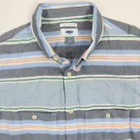 Old Navy Mens Shirt SLIM Fit MEDIUM Striped Button Down Surf Skate NWT NEW