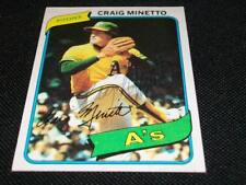 Oakland A's Craig Minetto Auto Signed 1980 Topps Card #494  SCARCE  TOUGH  N
