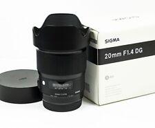 Sigma 20mm f1.4 DG HSM Art Lens - Canon EF Fit