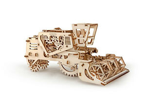 3D Puzzle Holzpuzzle UGEARS MÄHDRESCHER Baukasten Geschenkidee