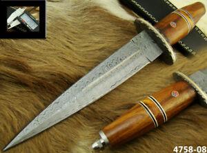 ALISTAR SUPERB HANDMADE DAMASCUS STEEL KNIFE DOUBLE EDGE HUNTING DAGGER 4758-8