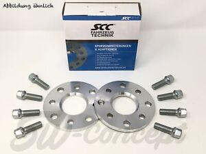SCC Spurverbreiterung 20mm Radschrauben Spurplatten 2x10mm BMW X5 X6 inkl
