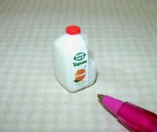 Miniature ORANGE JUICE, 1 Gallon Bottle w/Label, Orange Lid: DOLLHOUSE 1/12