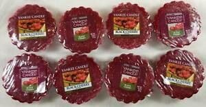 Yankee Candle Tarts: BLACK CHERRY Wax Melts Lot of 8 Red New