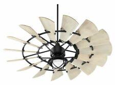 "NEW Finish Noir...Quorum 60"" Windmill INDOOR Ceiling Fan"