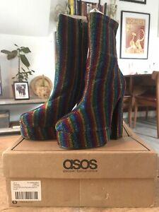 Rainbow Platform Boots