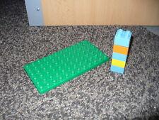 LEGO DUPLO Platte  Bauplatte grün  6 x 12 Noppen + 5 Bausteine 4er Steine