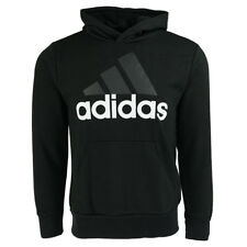 adidas Men's Essential Linear Pullover Hoodie Black M