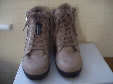 NEW LOOK  BROWN  ANKLE BOOTS HIDDEN WEDGE LACE UP  SIZES 7 8 9 *TO CLEAR*