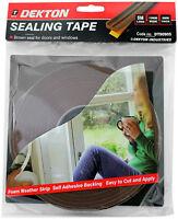 Dekton Foam Weather Strip Window Door Draft Draught Excluder Brown Insulation Ta