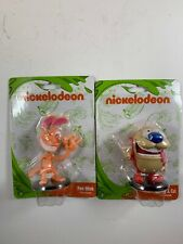 Nickelodeon Ren and Stimpy Toy Figures Cake Toppers  Stocking Stuffer Set Of 2