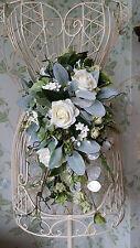 Stagionale Brides handtied AVORIO Rose Wedding Bouquet Fiori Posy Real Touch SETA