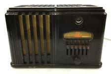 1937 Airline Miracle 62-212 Am Tube Bakelite Radio Lot 1403