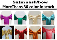 PACK OF 75 Satin Chair Cover Sash Bows sashes Wedding Banquet Party Reception
