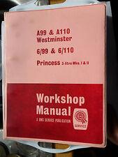 AUSTIN A99 A110 WESTMINSTER VANDEN PLAS PRINCESS WOLSELEY 6/99 6/110 WORKSHOP MA