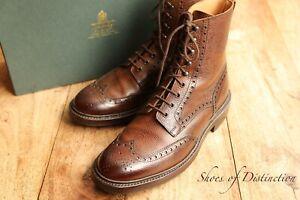 James Bond Skyfall Crockett & Jones Islay Brown Leather Brogue Boots Shoes UK 8