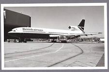 BRITISH AIRWAYS LOCKHEED TRISTAR L-1011 ORIGINAL LARGE BA VINTAGE AIRLINE PHOTO