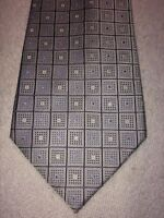 GEOFFREY BEENE MENS TIE 3.75 X 60 GRAY WITH BLUE AND WHITE