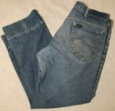 34c792bd VTG Mens LEE RIDERS Well Worn, Distressed Jeans w/ High Cuffs! 36.5""