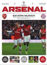 * Arsenal V BAYERN MUNICH (Ligue des Champions 19 février 2014) programme de Menthe *