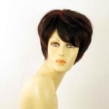 perruque femme 100% cheveux naturel courte méchée noir/rouge ALICE 1b410