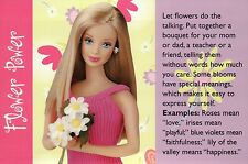 """ Flower Bouquet "" Fashion Collectible Photo Card Mattel - Barbie Doll Postcard"