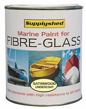 Supplyshed Marine Boat Undercoat SATINWOOD Paint for Fibreglass and GRP 750ml