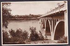 C 1915 Real Photo RPPC Postcard 25th Street Bridge SASKATOON Saskatchewan Canada