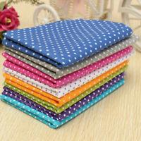 7x KINGSO 50x50CM DIY Cotton Fabric Assorted Pre-Cut Fat Quarters Bundle