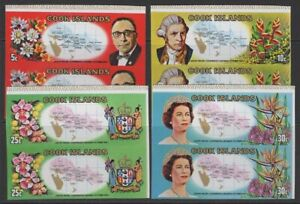 COOK ISLANDS SG306/9var 1969 SOUTH PACIFIC CONFERENCE IMPERF PAIRS MNH