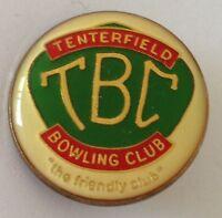 """Tenterfield Bowling Club Badge """"The Friendly Club"""" Rare Vintage (L6)"""