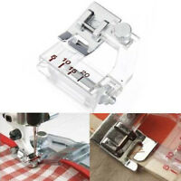 2PC Snap On Adjustable Bias Tape Binding Foot Brother Janome Sewing Machine