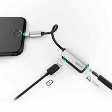 Baseus 2in1 Lightning Adapter Audio 3.5mm Jack Charge Cable for iPhone 7/8/X/XS
